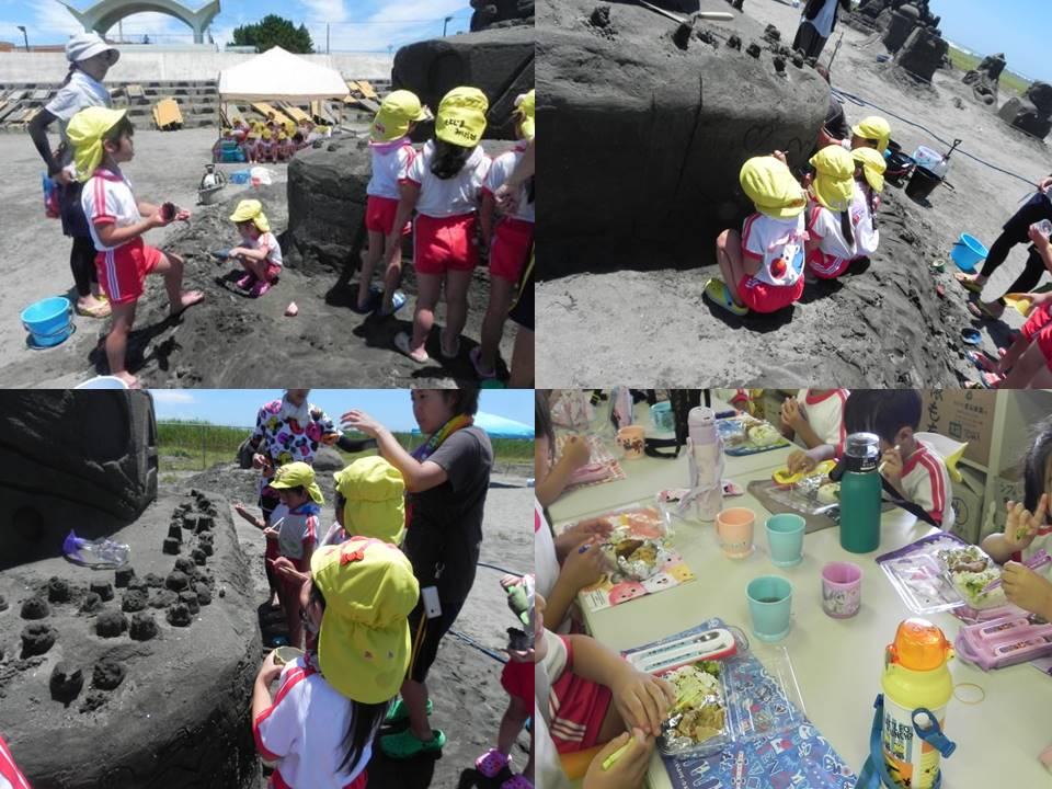 ひつじA組・砂像製作〜あさひ砂の彫刻美術展2018〜�B(7月10日・火)
