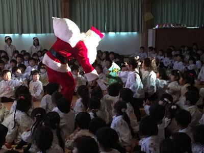 クリスマス会 サンタさん来ました
