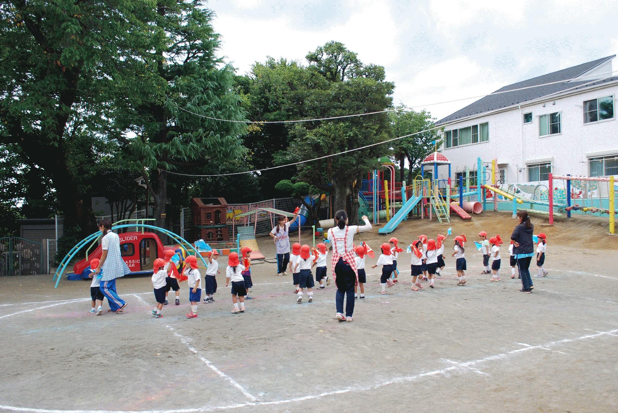 9月15日(金) 年少組の運動会練習風景