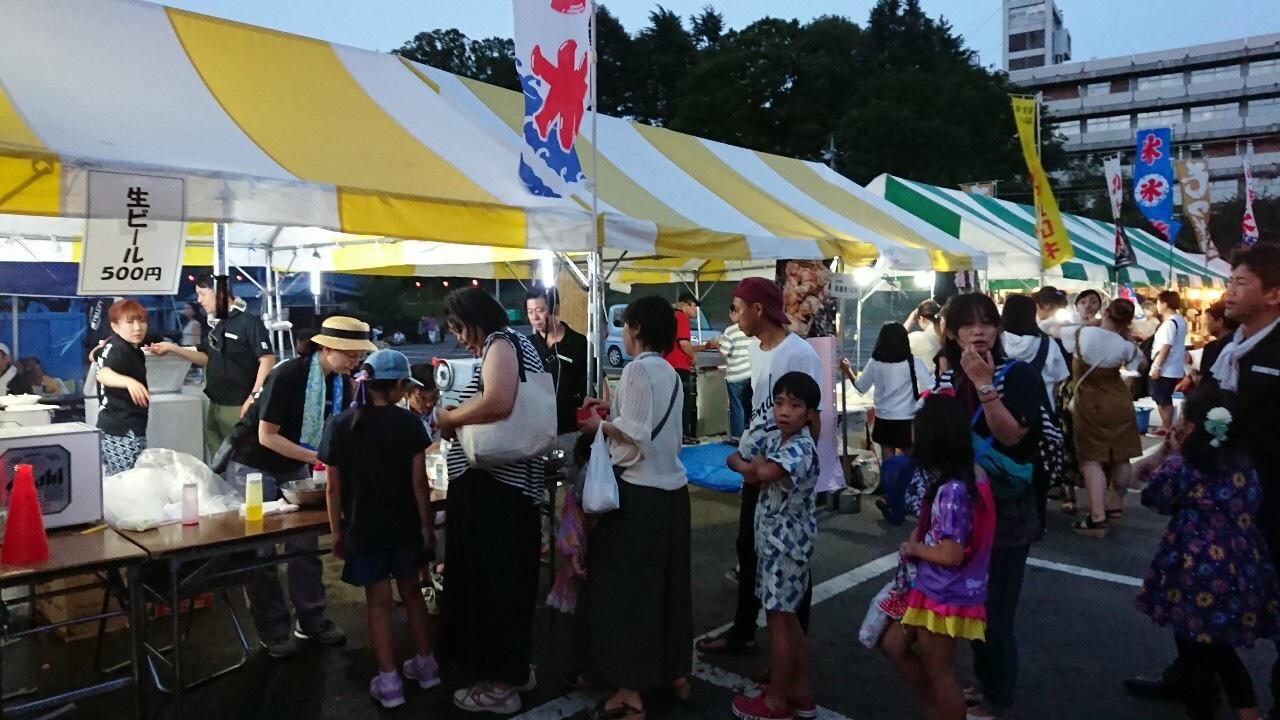 小山サマーフェスティバルオープニングカーニバルに出店致しました。